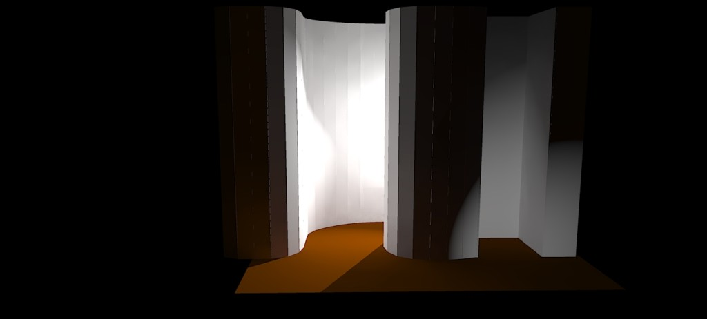 Rendered image with two lights applied to the screen model